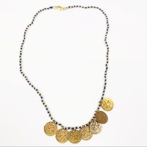 ANTHROPOLOGIE l Coin Beaded Necklace